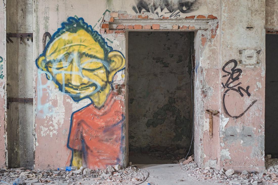 anna rusiłko fotografia photography opuszczona przędzalnia abandoned spinning graffiti urbex